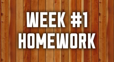 Week #1: Real Manhood Homework