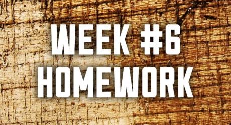 Week #6: Provision & Planning Homework