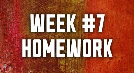 Week #7: Lust & Love Homework