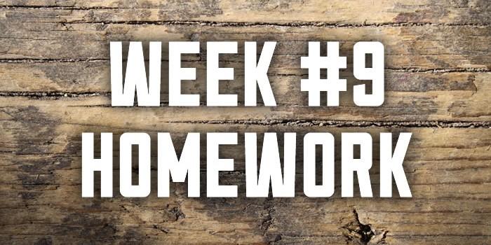 Week #9: Worship Homework
