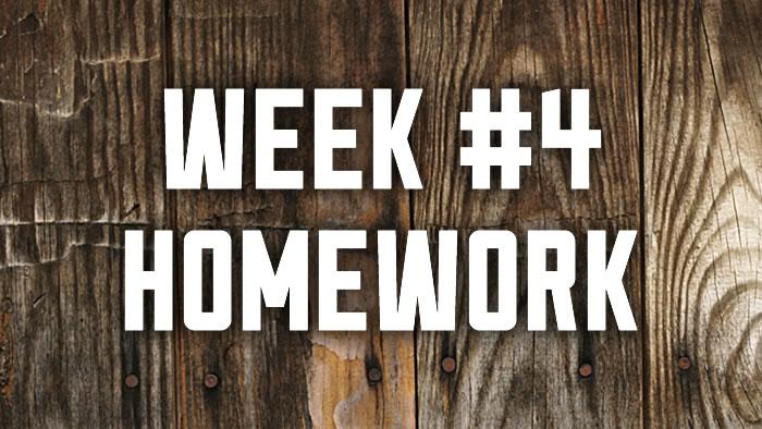 Week #4: Spiritual Disciplines Homework