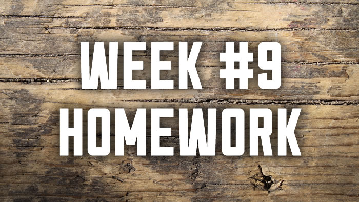 Week #9: Worship Homework